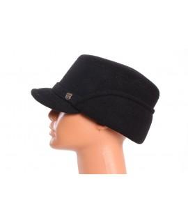 Pánsky flísový klobúk so šiltom -  čierny