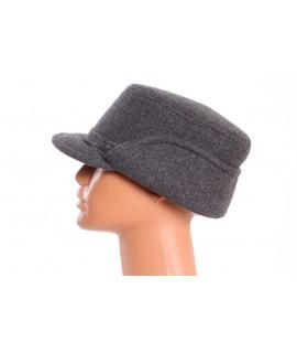 Pánsky flísový klobúk so šiltom -  sivý