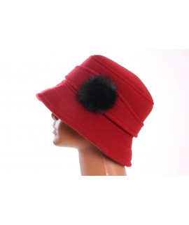 Dámsky klobúk flísový - červený