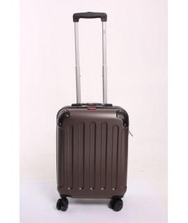 Cestovný kufor BONTOUR (55x40x20 cm s kolieskami) - tmavohnedý