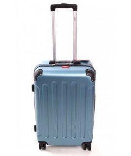 Cestovný kufor BONTOUR (67x44x25 cm s kolieskami) - tyrkysovo-modrý