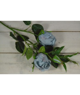 Umelá kytica RUŽA - modrá (v 65 cm)