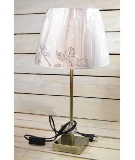 Stolná lampa - bielo-zlatá (v. 49 cm)