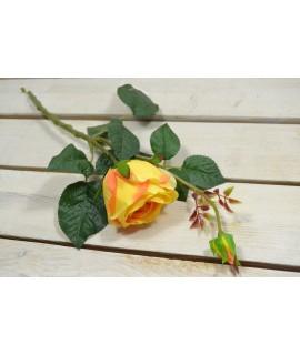Umelá RUŽA - oranžovo-žltá (v. 42 cm) 026