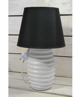 Lampa bielo - čierna (V:33cm)