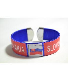 Náramok SLOVAKIA (v. 2 cm, p. 7 cm) - modrý