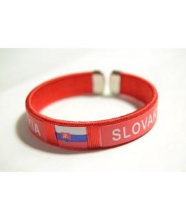 Náramok SLOVAKIA (v. 1,5 cm, p. 6 cm) - červený