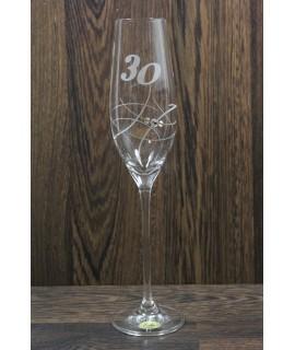 Výročný pohár na 30. narodeniny ŠAMPANSKÉ 2. so swarovski kryštálmi