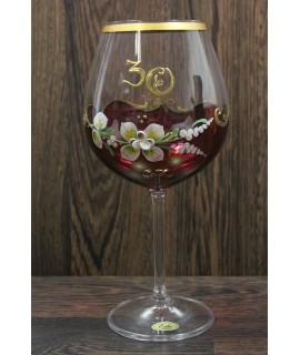 Výročný pohár na 30.narodeniny na VÍNO - bordový
