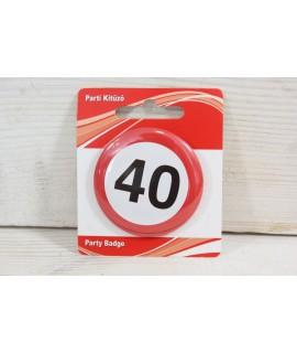 "Brošňa ""40"" (p. 5,5 cm)"