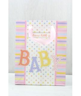 """Darčeková taška """"BABY"""" (18x23x10 cm) - ružová"""