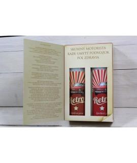 Darčekové balenie Kniha-RETRO (sprchový gel 200ml + šampón na vlasy 200ml)