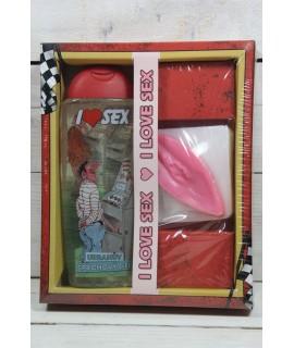 Darčekové balenie I LOVE SEX AUTOMAT (sprchový gel 300ml a mydlo vagína)