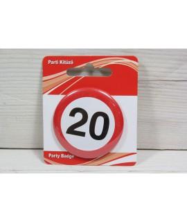 "Brošňa ""20"" (p. 5,5 cm)"