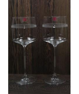 Svadobné poháre na víno PASSION (470 ml) so swarovski krištáľmi v darčekovej krabici