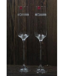Svadobné poháre na šampanské (170 ml) so swarovski krištáľmi v darčekovej krabici
