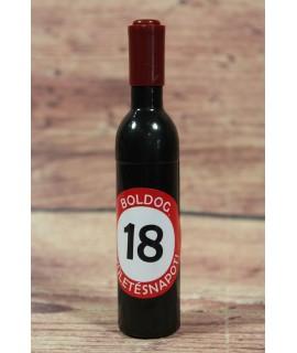 """Otvárač na víno """"BOLDOG 18 SZÜLETÉSNAPOT"""" s magnetkou (v. 12,5 cm)"""