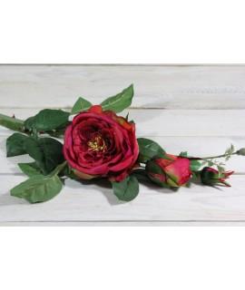 Umelá RUŽA - tmavoružová (v. 74 cm)