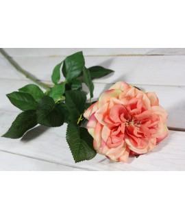 Umelá RUŽA - broskyňová (v. 69 cm)