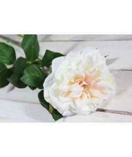 Umelá RUŽA - bielo-krémová (v. 69 cm)