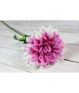 Umelá DÁLIA - ružovo-biela (v. 78 cm)