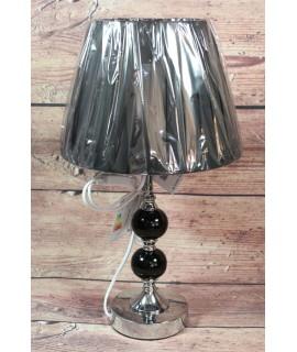 Lampa strieborná - čierna (v. 46 cm)