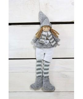 Chlapček bielo-sivé nohavice (v. 22 cm) 1.
