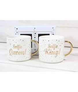 """2 šálky """"SELFIE KING! SELFIE QUEEN!"""""""