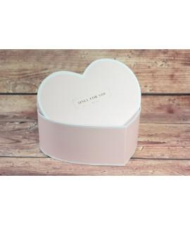 "Ozdobná krabica ""ONLY FOR YOU"" - ružová (22x8 cm)"