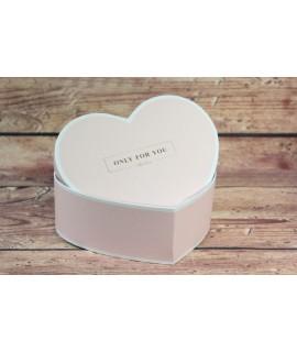 "Ozdobná krabica ""ONLY FOR YOU"" - ružová (19x7 cm)"