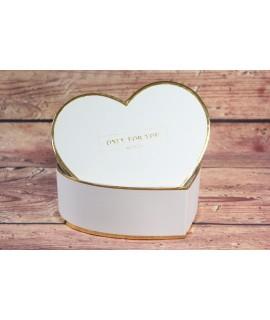 "Ozdobná krabica ""ONLY FOR YOU"" - zlatý okraj (19x7 cm)"