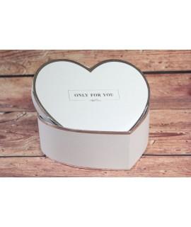 """Ozdobná krabica """"ONLY FOR YOU"""" - strieborný okraj (19x7 cm)"""