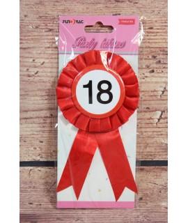 Odznak zdobený stuhou k 18. narodeninám