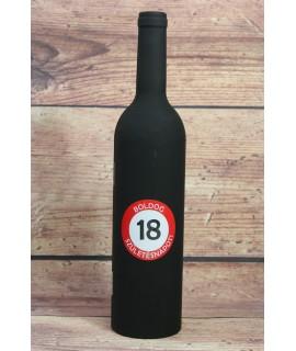 """Bornyitó szett """"BOLDOG 18. SZÜLETÉSNAPOT"""" - üveg (v. 33 cm)"""