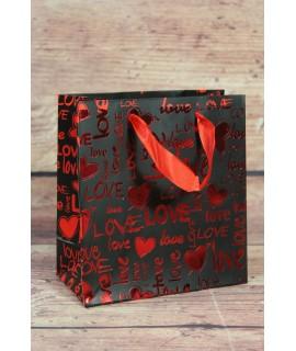"""Darčeková taška """"LOVE"""" (14x15 cm)"""