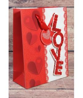 """Darčeková taška """"LOVE"""" (18x24 cm)"""
