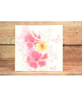 Darčeková taška - kvety a motýle (15x14,5x6 cm)