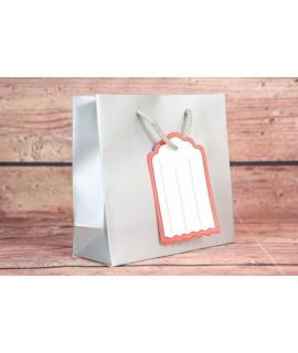 Darčeková taška - sivá (15x14,5x6 cm)