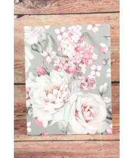 Darčeková taška - ružové ruže (18x23x10 cm) 2.