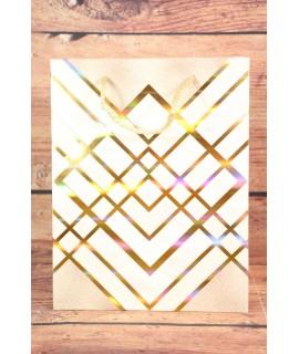 Darčeková taška - zlatý motív (18x23x10 cm) 2.
