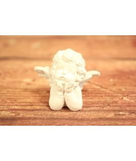 Anjelik držiazi hlavičku - biely (v. 4,5 cm) 1.