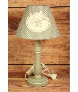 "Lampa ""HOME SWEET HOME"" - sivá (v.42 cm)"