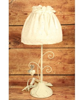 "Lampa ""VINTAGE"" - biela vzor list (v. 48 cm)"