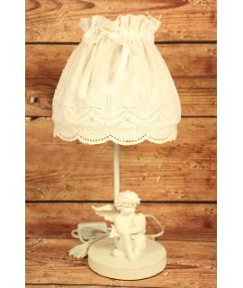 """Lampa """"VINTAGE"""" - biela s anjelikom (v. 40 cm)"""