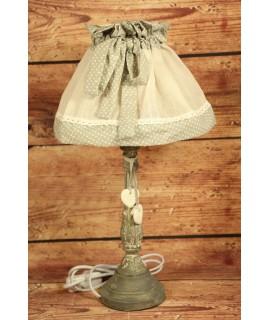 Lampa - sivá bodkovaná (v. 45 cm)