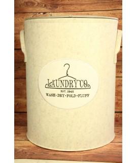 """Filcový kôš na prádlo """"LAUNDRY CO."""" - sivý (v. 56 cm, p. 46,5 cm)"""