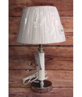 Lampa - bielo-strieborná (v. 43,5 cm)