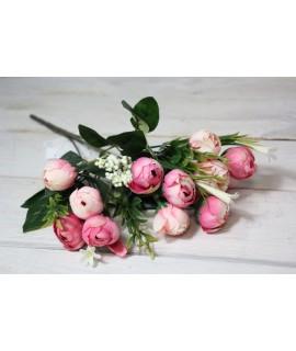 Umelá kytica - ružový odtieň 2. (v. 30 cm)