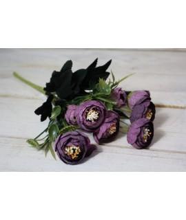 Umelá kytica - fialová (v. 27 cm)