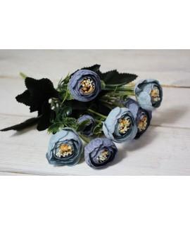 Umelá kytica - modrá (v. 27 cm)